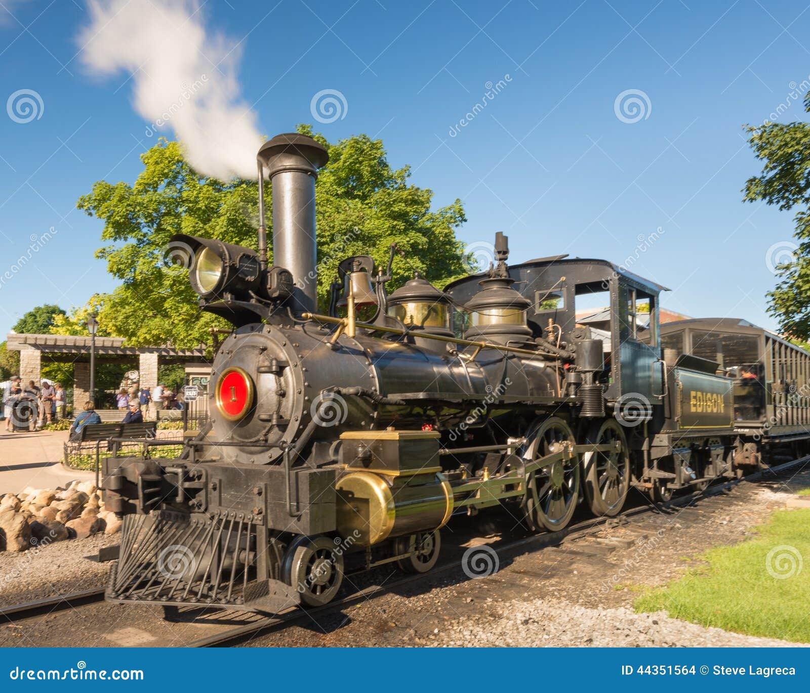 Locomotiva a vapore al villaggio del Greenfield