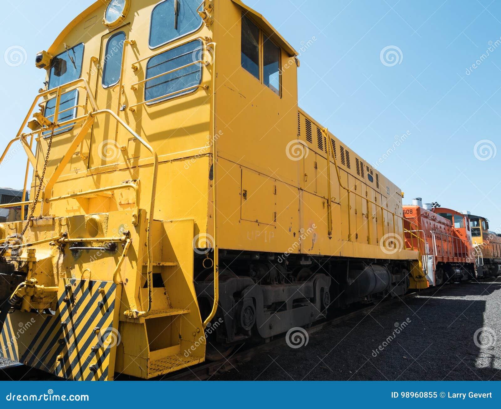 Locomotiva velha, museu da estrada de ferro de Portola