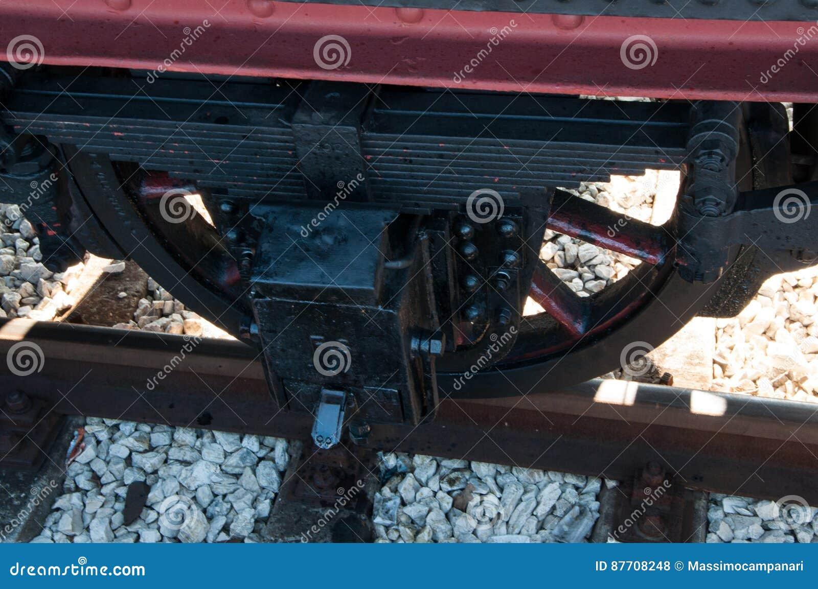 Locomotive à vapeur de vintage à la station