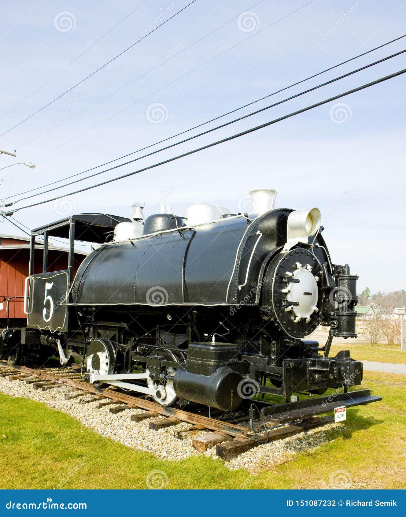 Locomotive à vapeur, Groveton, New Hampshire, Etats-Unis
