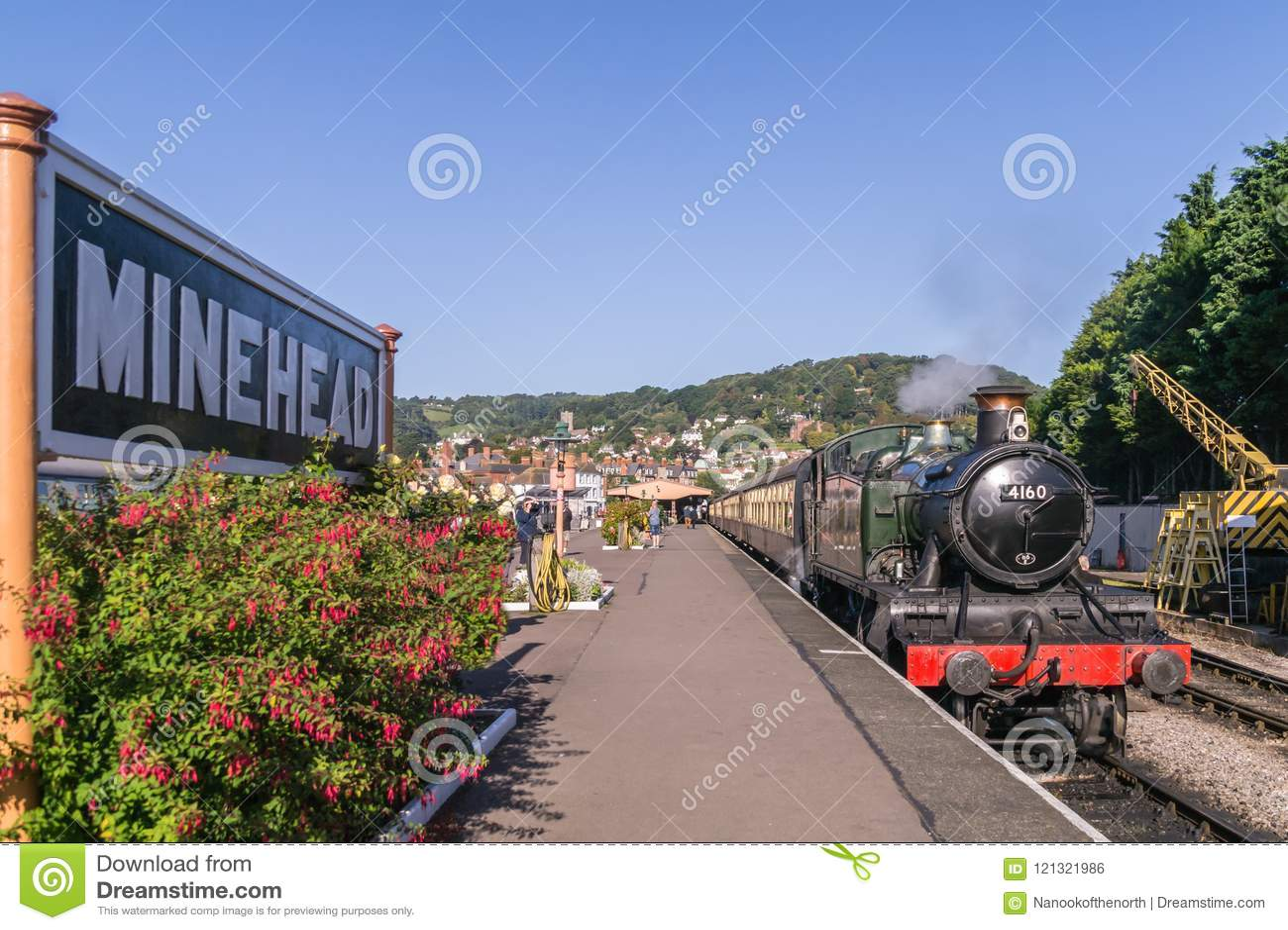Locomotive à vapeur 4160 à la station de Minehead, Somerset