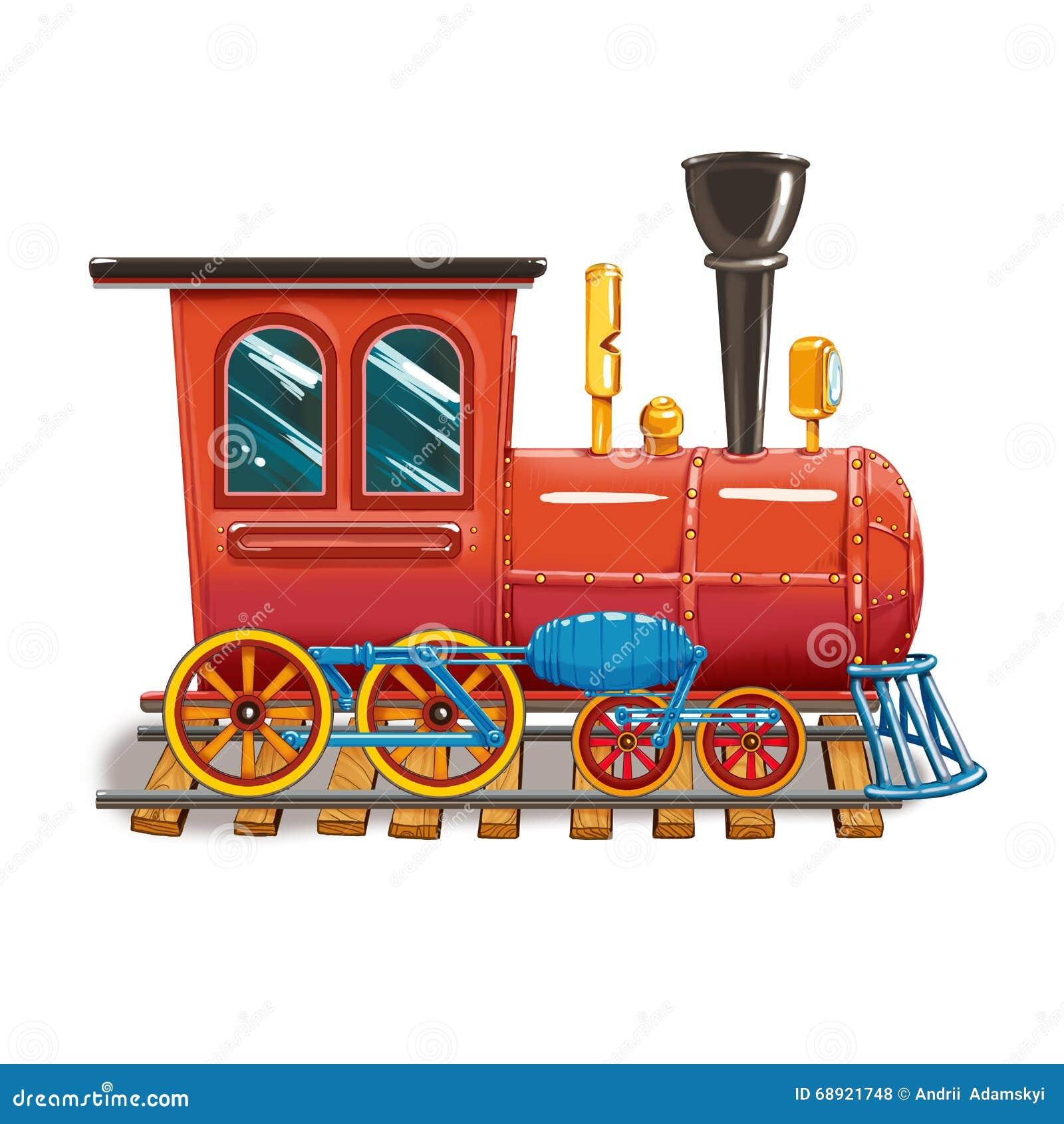 Locomotive à vapeur sur les voies