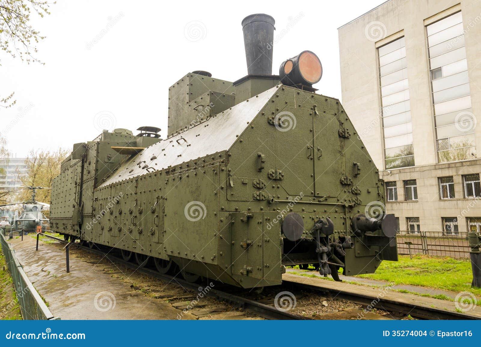 Locomotive blindée de Russe de WWII