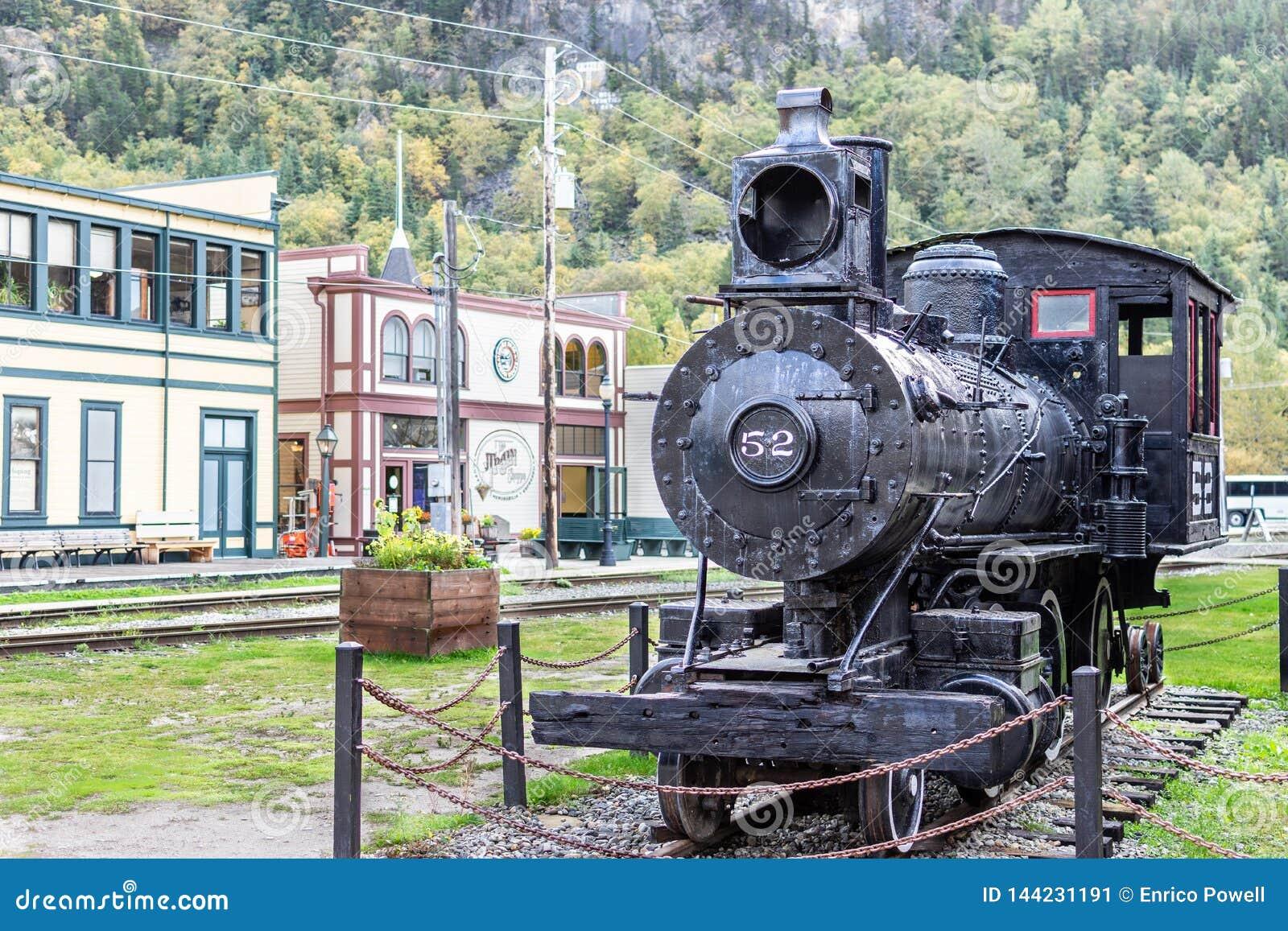 Locomotive 52 de machine à vapeur dans Skagway Alaska