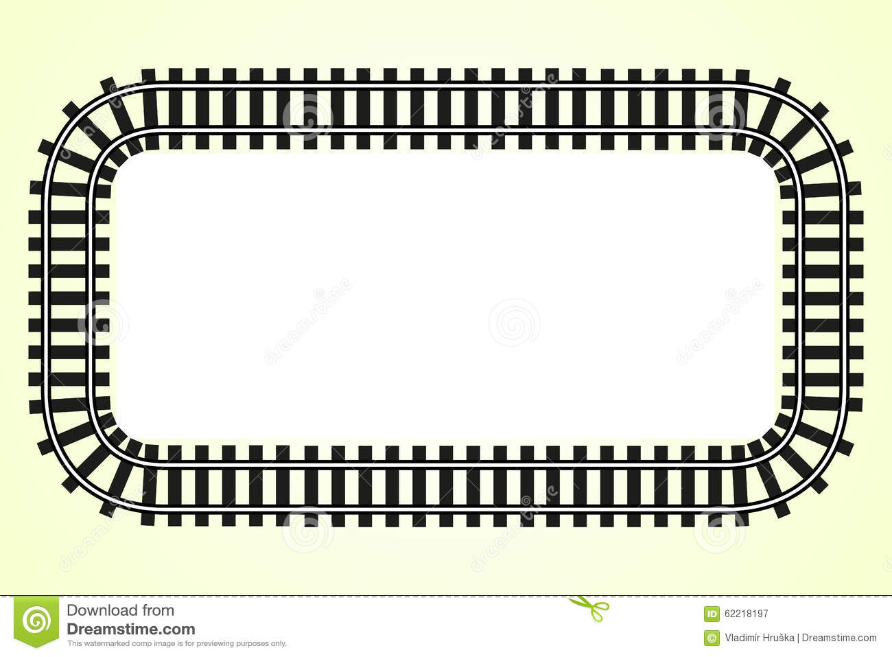 Locomotive Railroad Track Frame Transport Border Stock