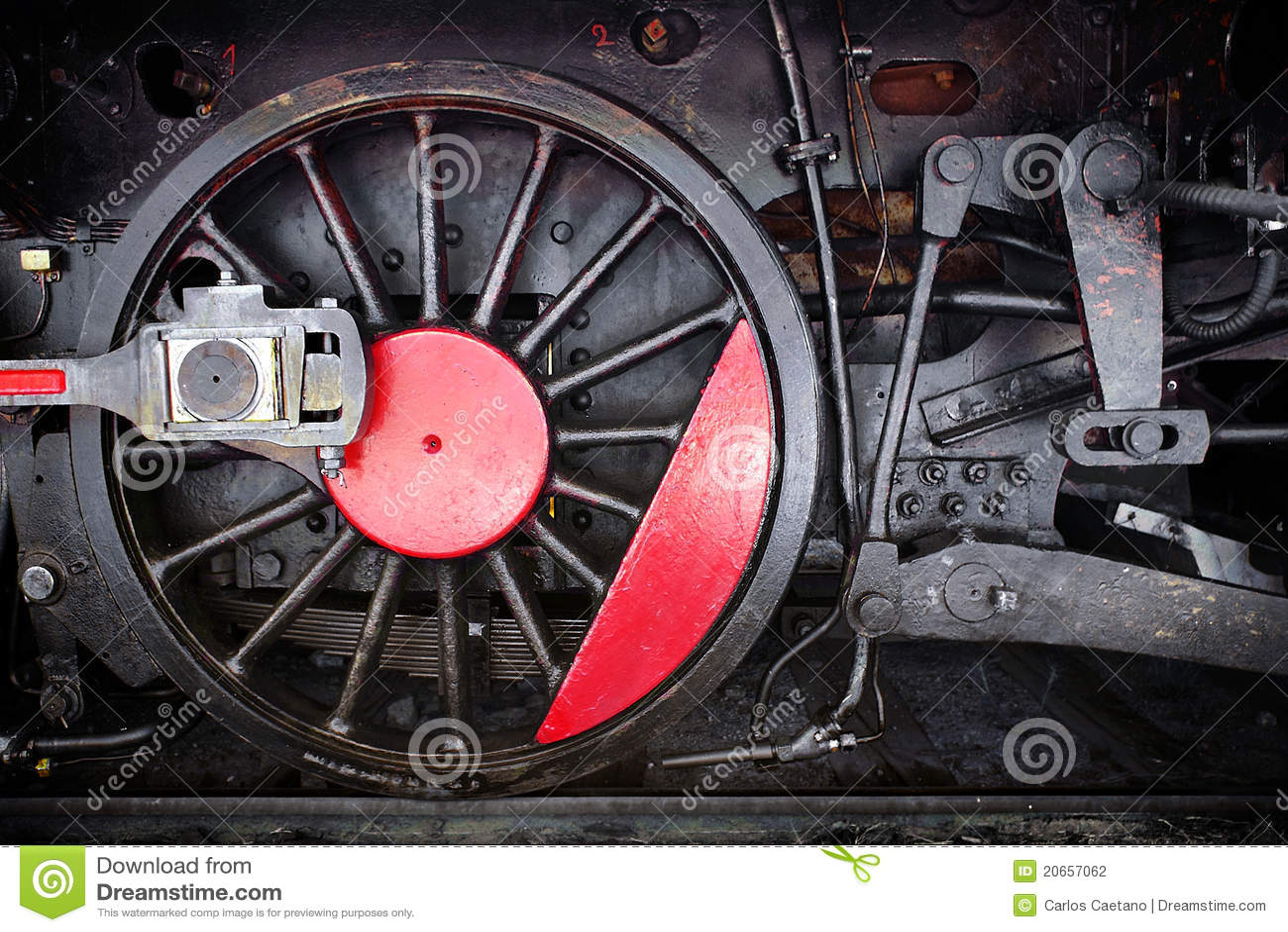 Locomotive Wheel stock photo  Image of power, mechanism