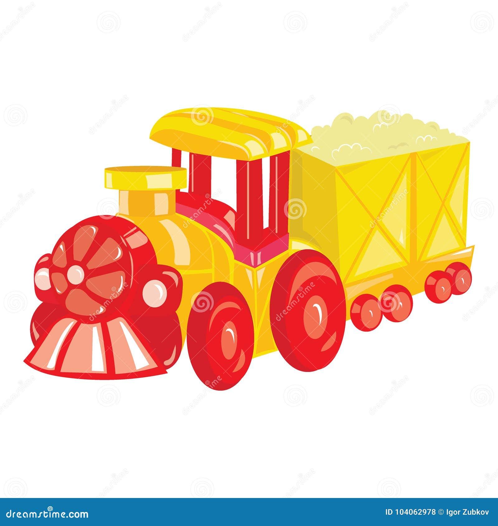 Locomotora De La Historieta En El Fondo Blanco Un Tren Del Vapor Del ...