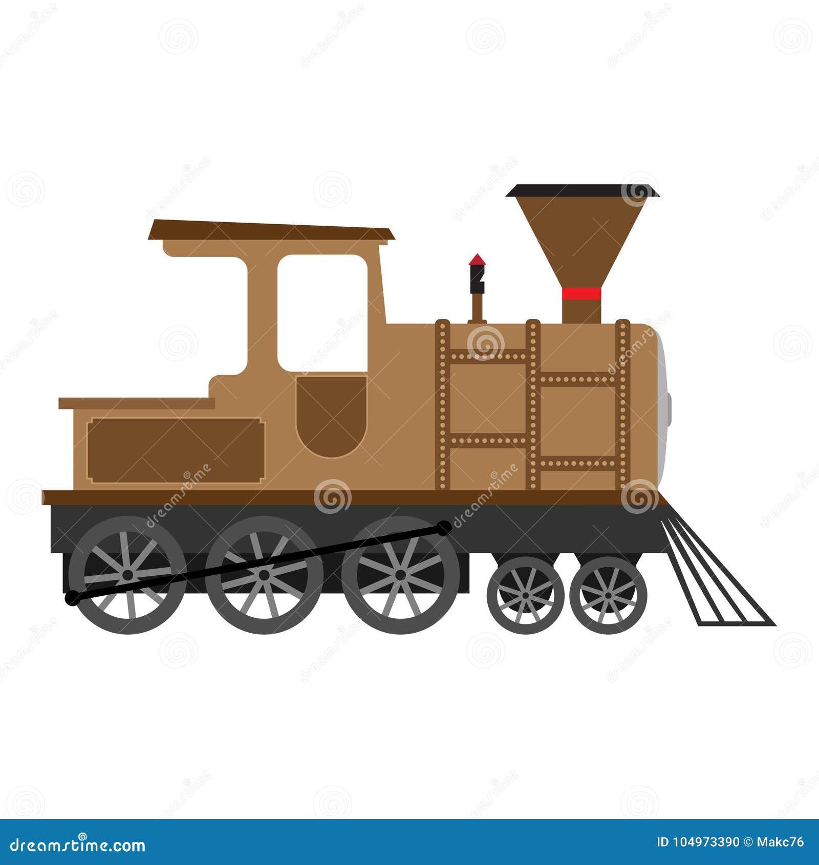 Locomotora De Vapor Vieja De La Historieta, Ejemplo Del Vector ...