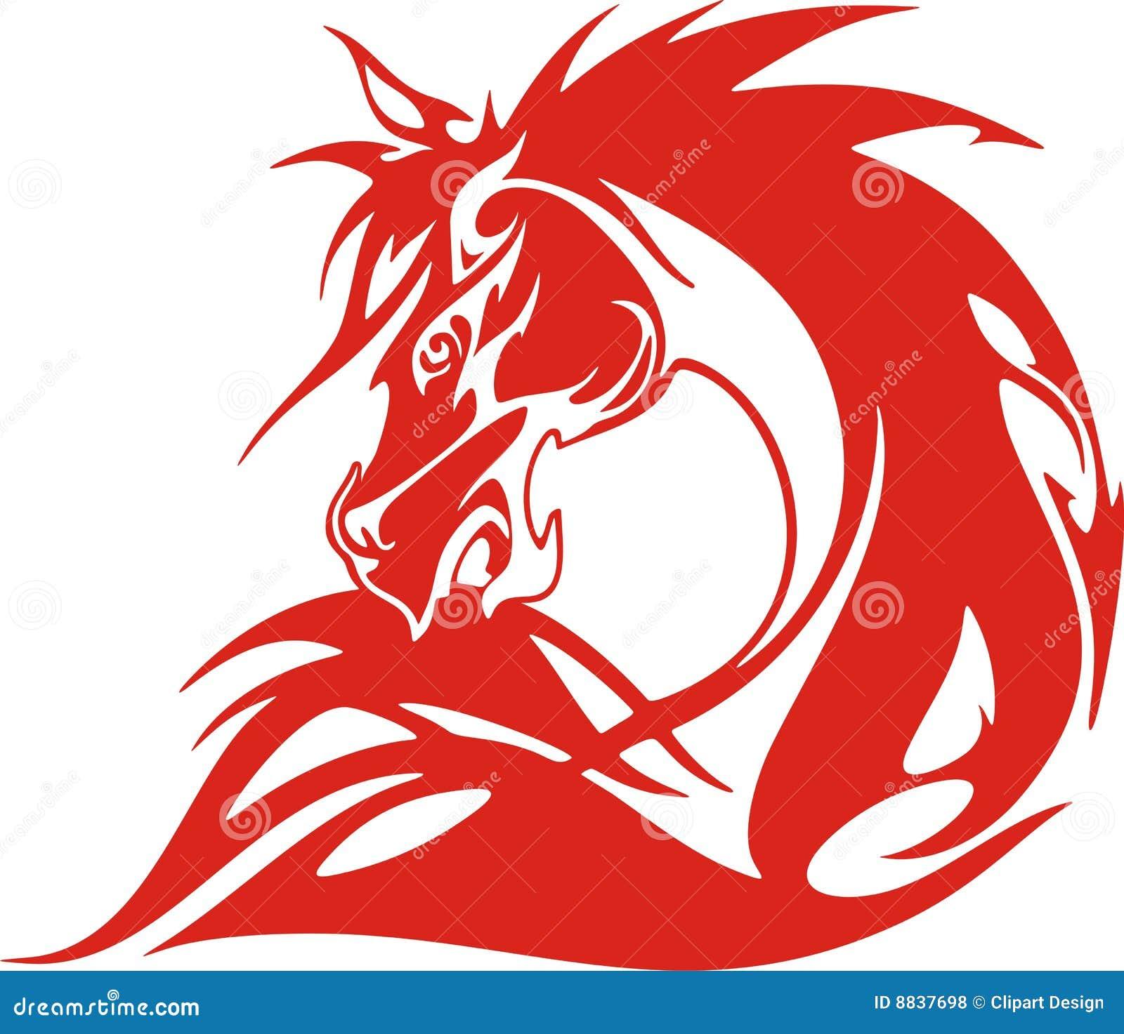 Loderndes Pferd stock abbildung. Illustration von tier - 8837698
