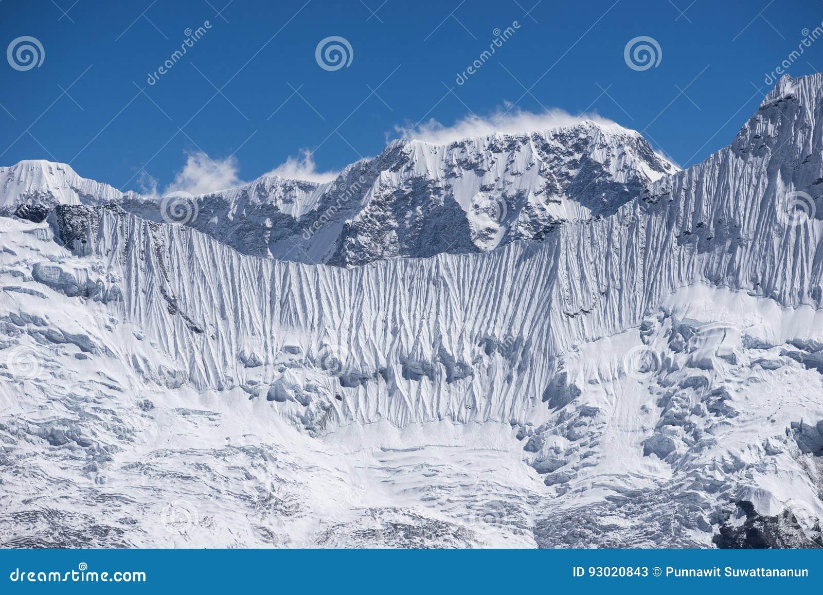 Lodowa ściana himalaje góra, Kongma losu angeles przepustka, Everest region, N