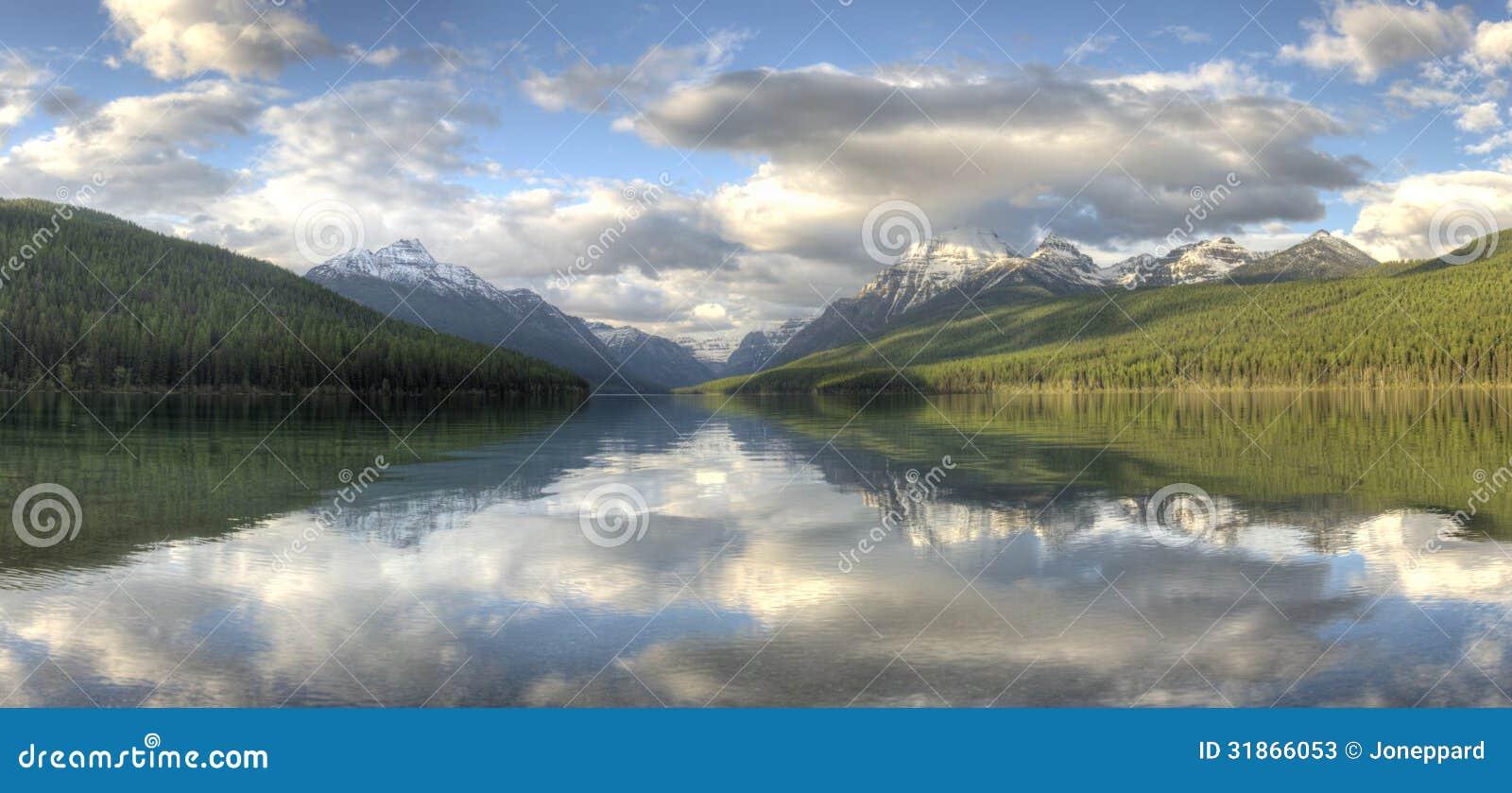 Lodowa parka narodowego Bowman jezioro