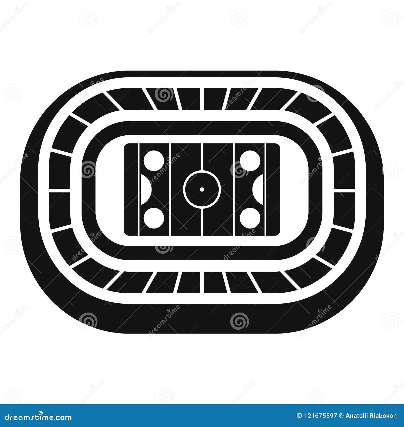 Lodowego hokeja areny ikona, prosty styl