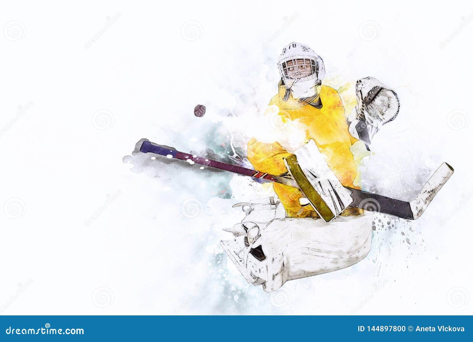 Lodowego hokeja bramkarz