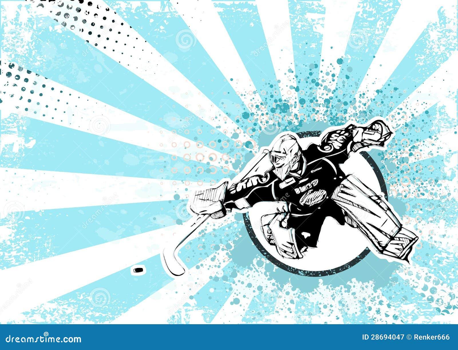 Lodowego hokeja retro plakatowy tło