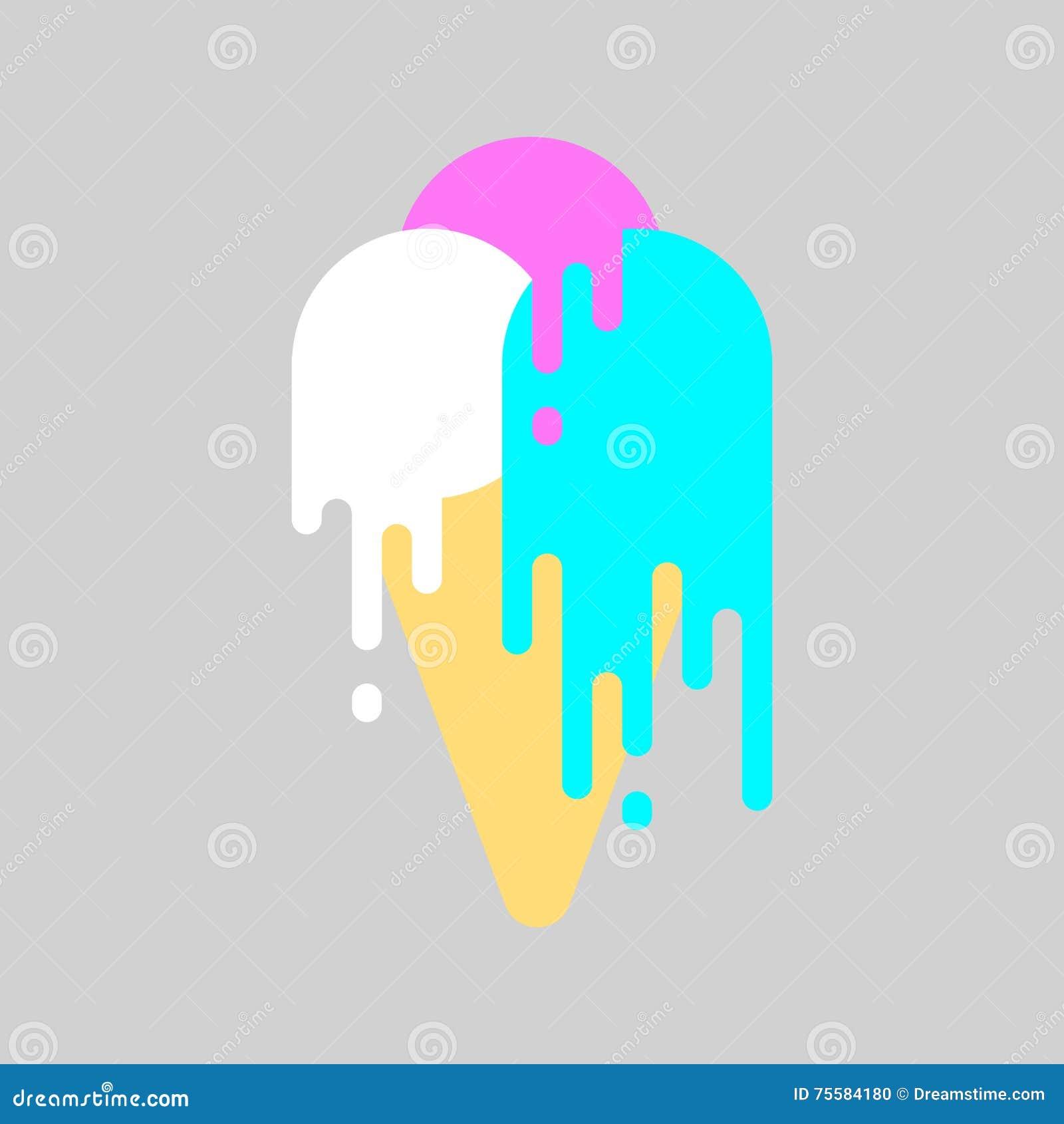 Lody obcieknięcia farba