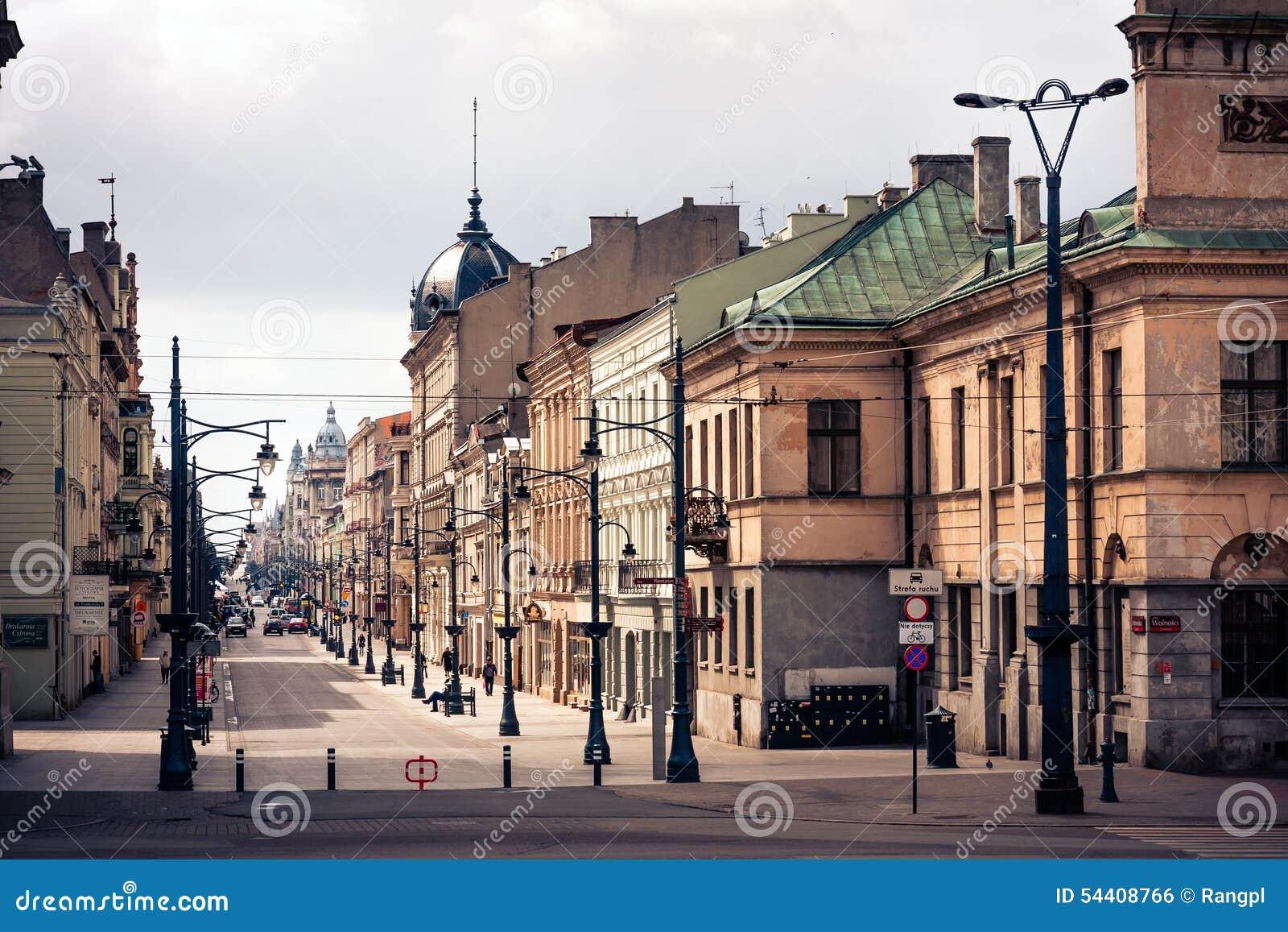 Lodz, Piotrkowska Street Editorial Photo