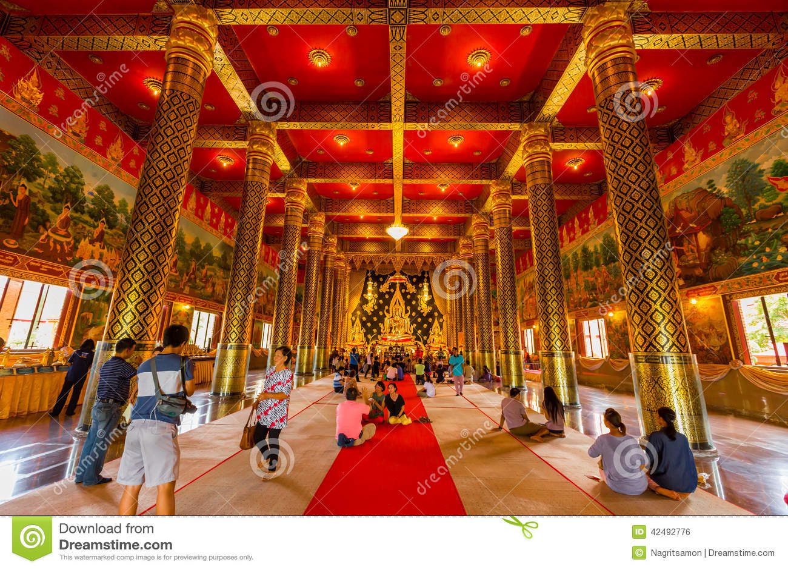 Loei Thailand  City pictures : LOEI ,THAILAND JUNE 28:Gold Buddha in Wat Neramit Wipatsana Loei ...