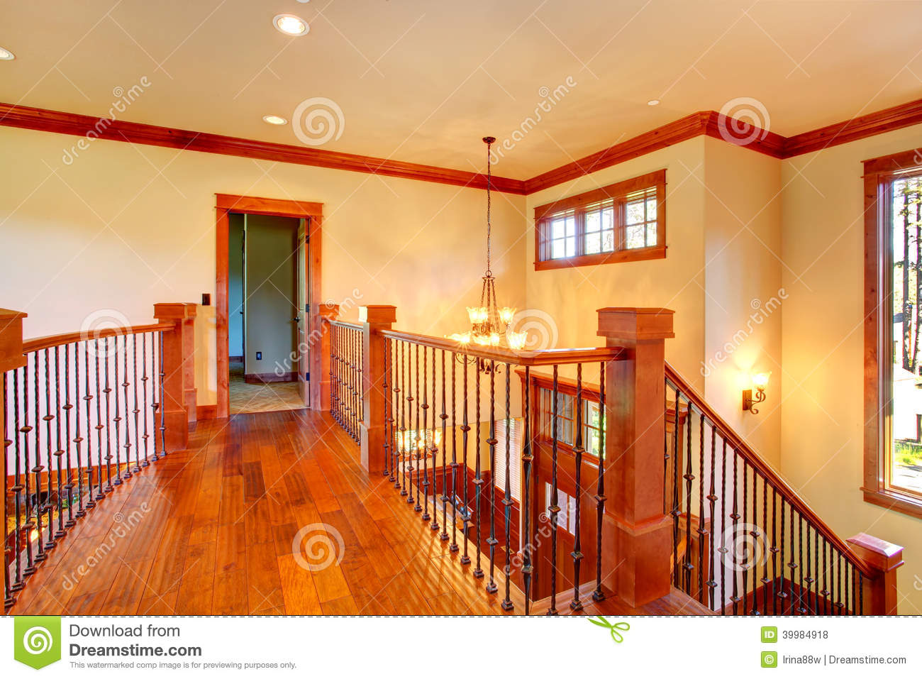 Royalty Free Stock Photos Lof Balcony Luxury House Interior Beautiful Loft View Wood Iron Railings Hardwood Floor Image39984918 on Two Story House Plans With Balconies