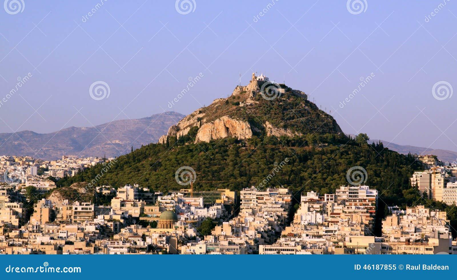 Lofos Likavitou from Acropolis, Athens