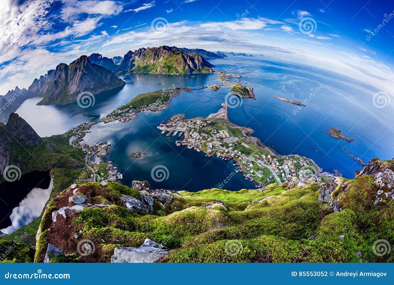 Lofoten-Archipel Fisheye-Linse
