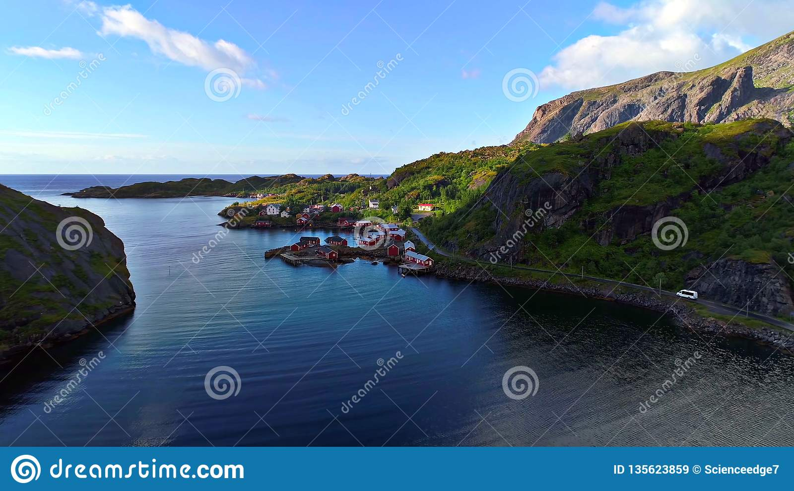 Lofoten islands is an archipelago in the county of Nordland, Norway