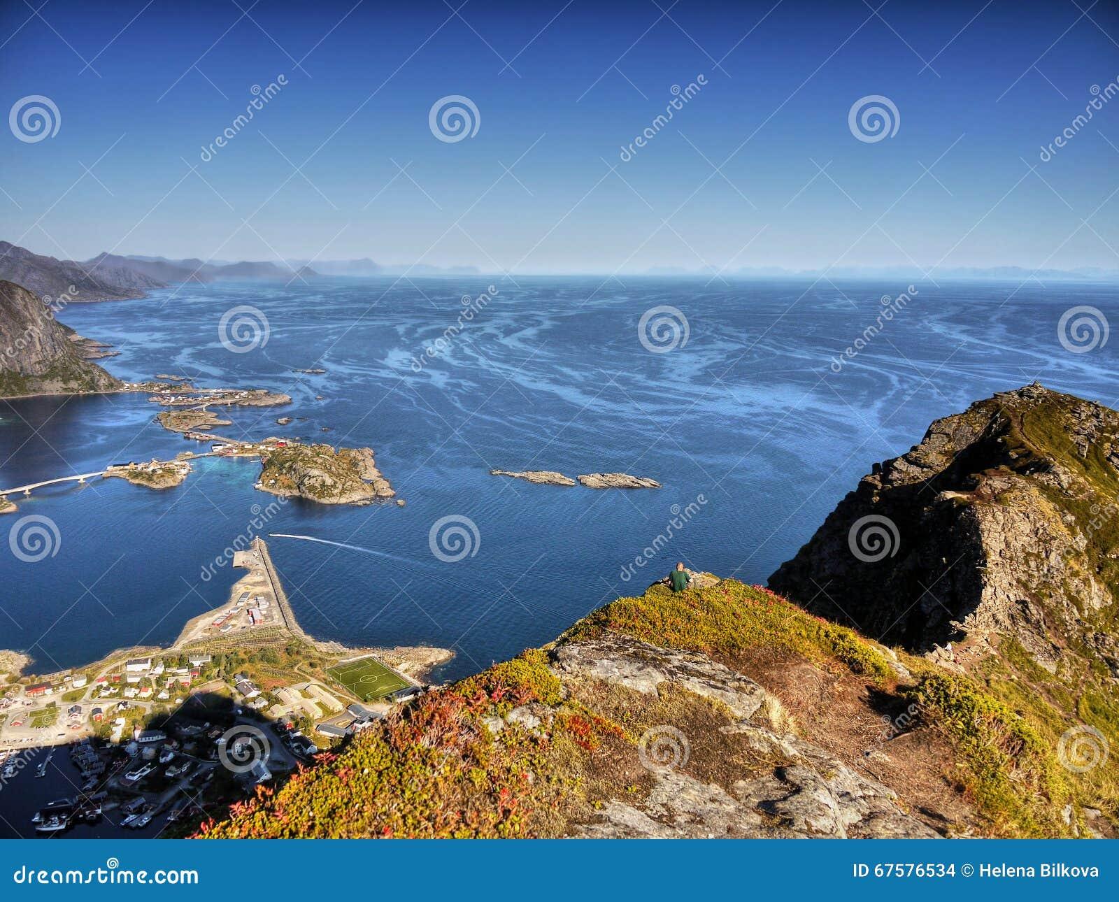 Lofoten Islands, Tours Cruises Norway Stock Photo - Image ...