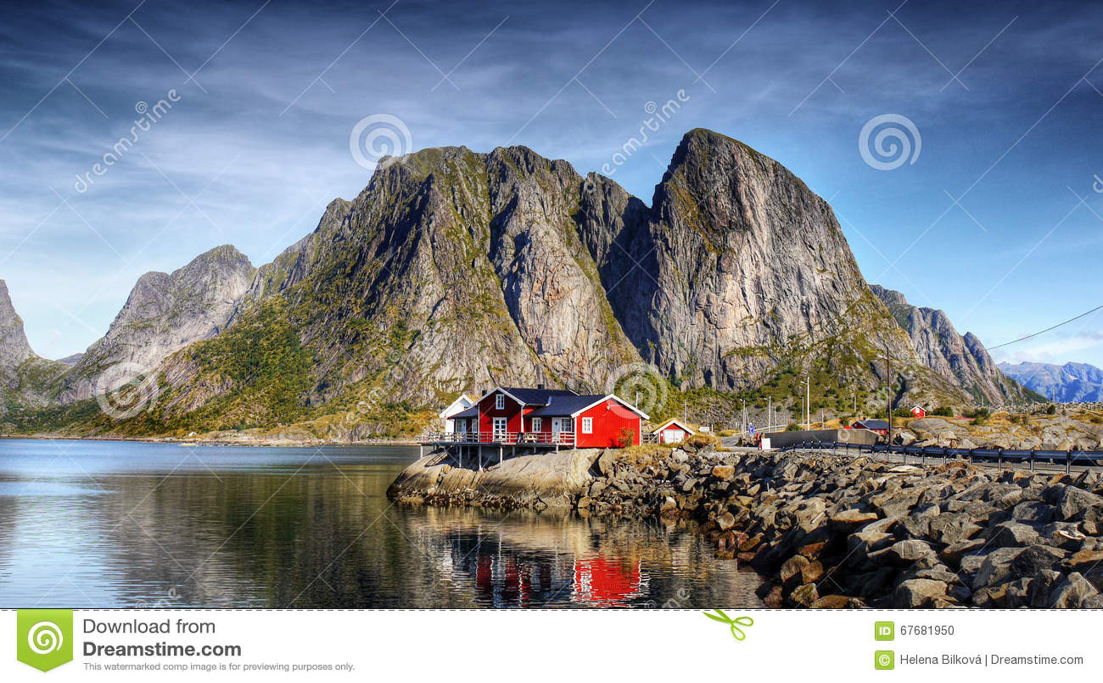 Lofoten Panorama View Village Reine Norway