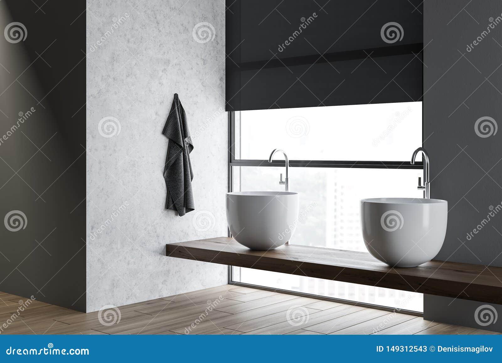 Loft Bathroom Corner Double Sink Stock Illustration Illustration Of Furniture Elegant 149312543