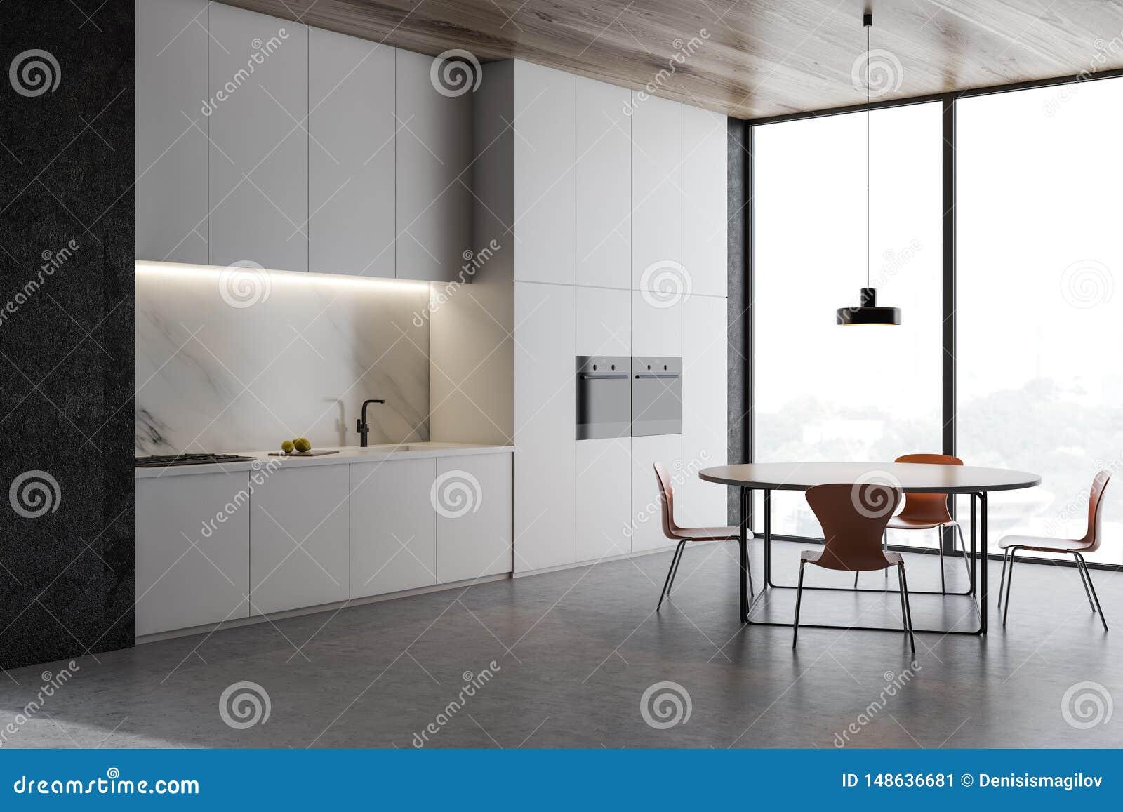 Loft kuchni betonowy k?t, kontuary i st??,