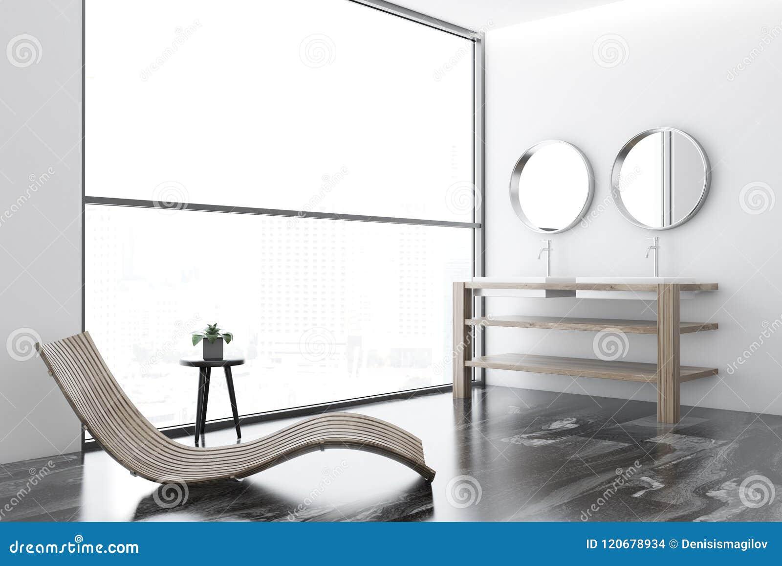 Espejos Redondos Lavabo.Loft La Esquina De Lujo De Marmol Del Cuarto De Bano
