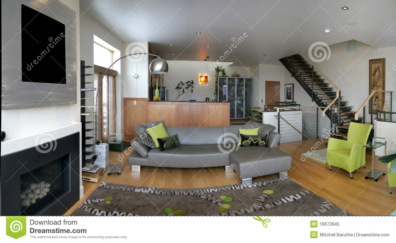 Royalty Free Stock Photo. Download Loft Living Room ... Part 32