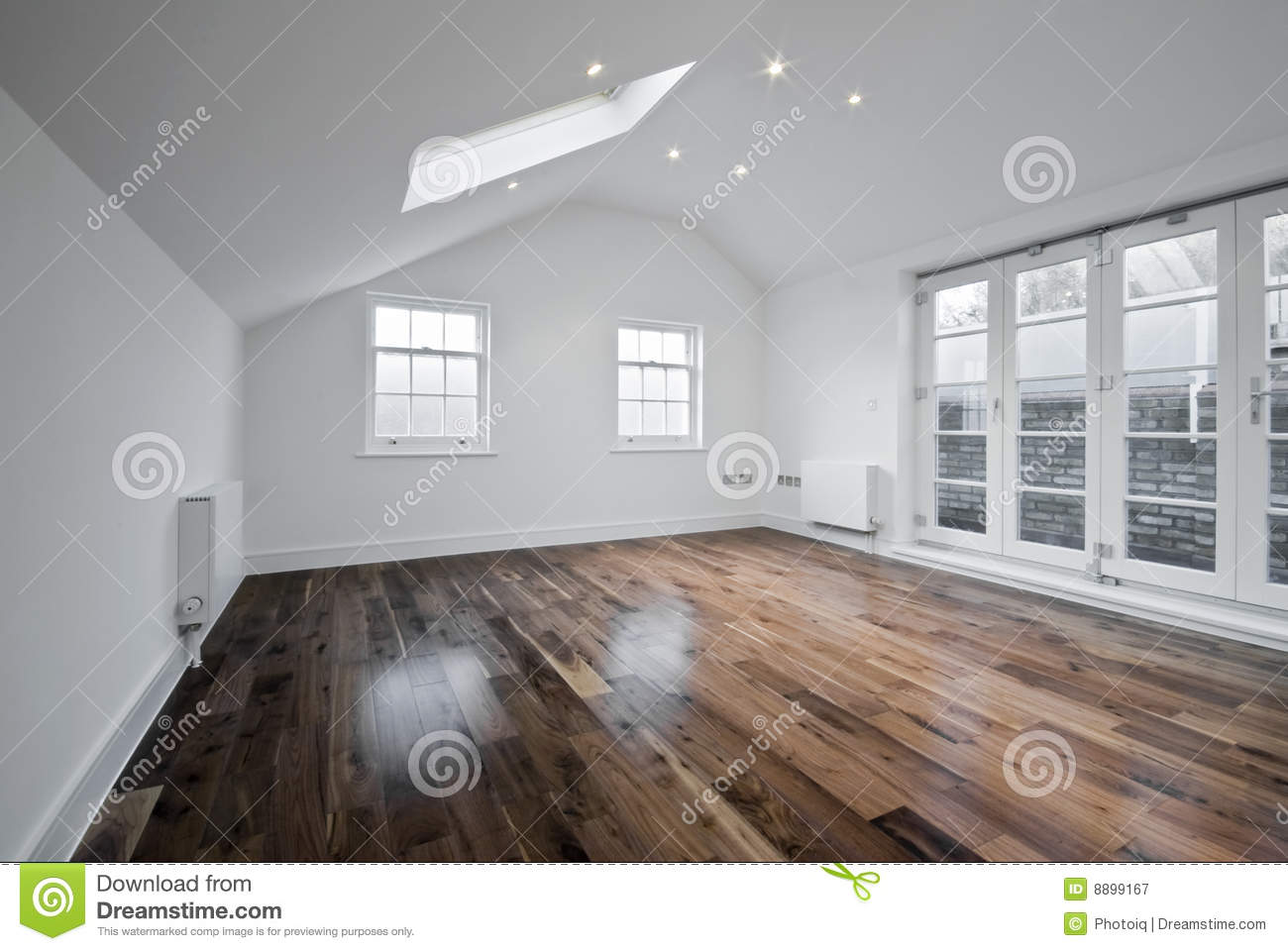 Loft Room With Roof Window Stock Image Image Of Laminate 8899167