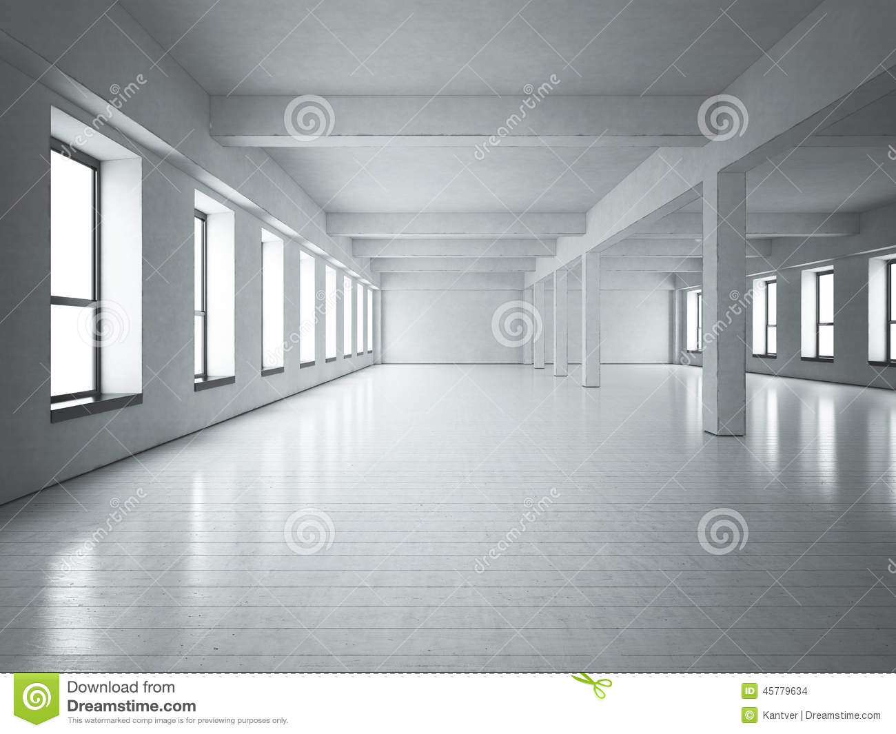 White Loft Stock Photo Image 44250419