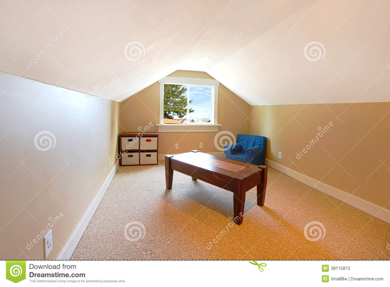 Loft Upstairs With Kids Play Area Stock Image