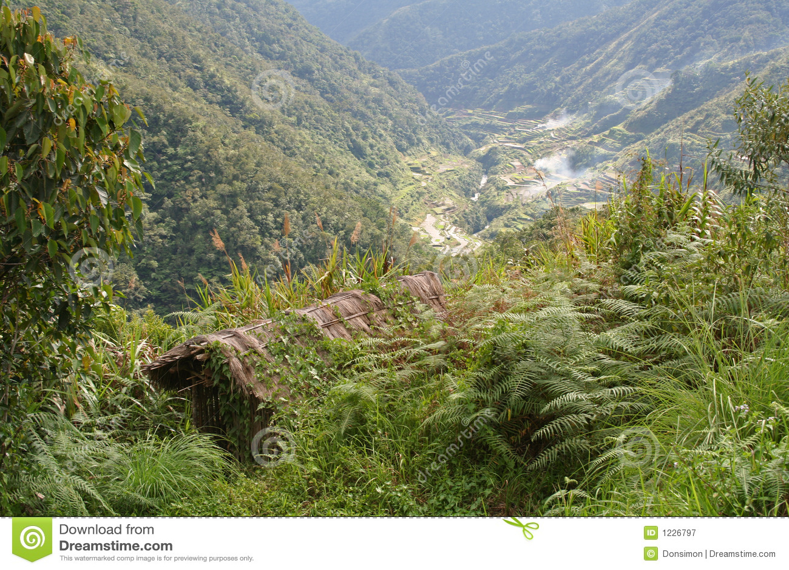 Lofty Perch Philippines Mountain Hut Royalty Free Stock