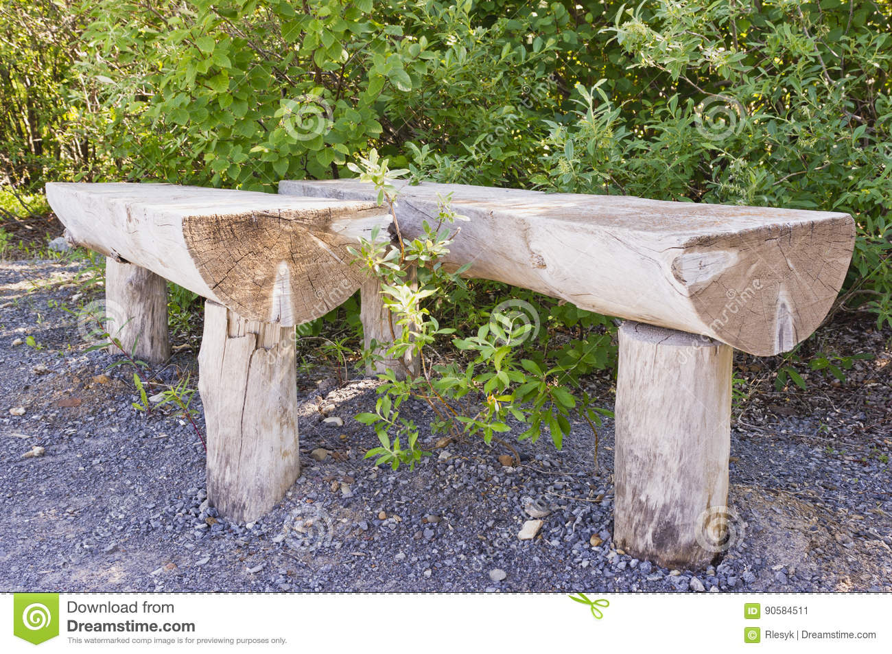 Prime Log Benches Stock Image Image Of Rest Wooden Benches Machost Co Dining Chair Design Ideas Machostcouk