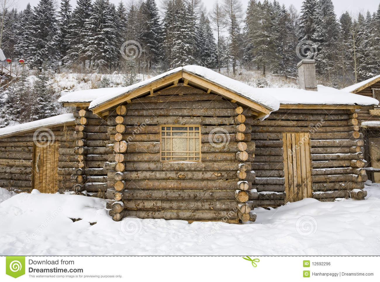 Very Impressive portraiture of Log Cabin Royalty Free Stock Image Image: 12692296 with #82A328 color and 1300x964 pixels