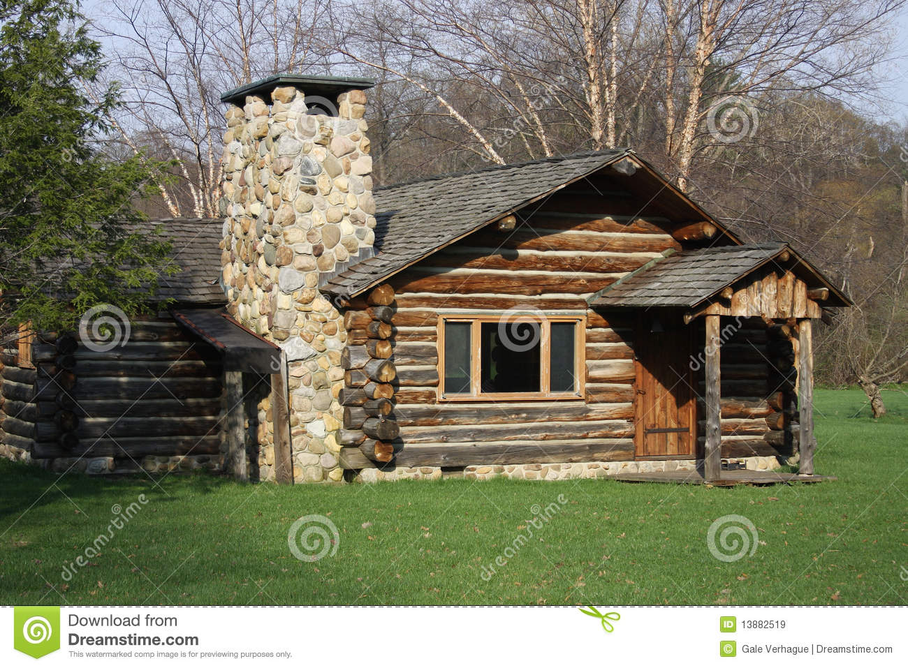 Log Cabin Royalty Free Stock Images Image 13882519
