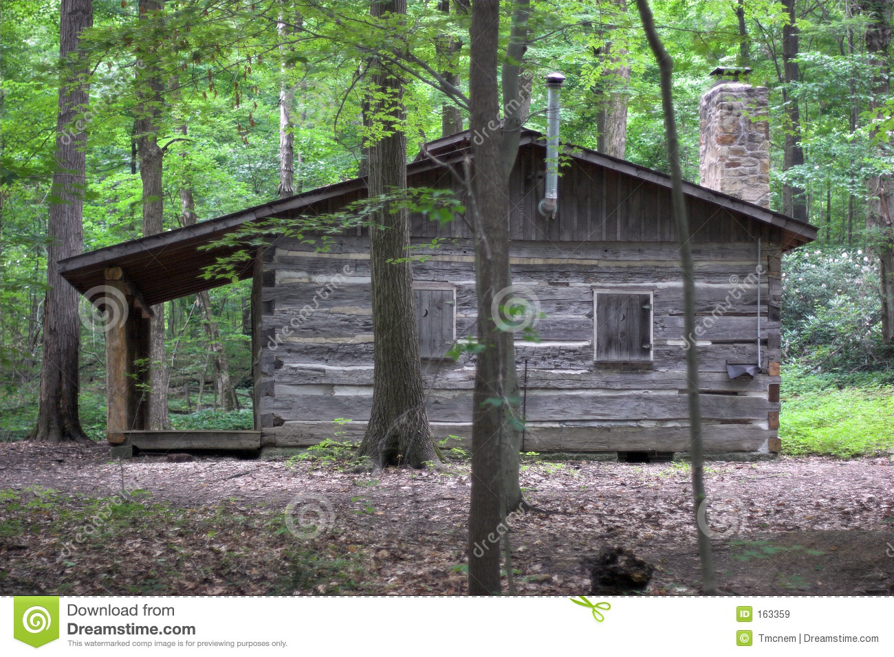 Log Cabin Royalty Free Stock Images Image 163359