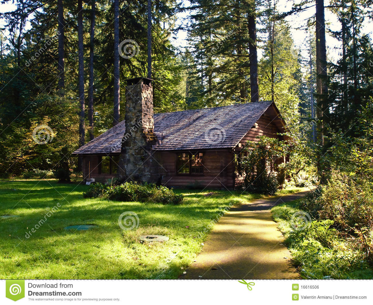 Log Cabin Royalty Free Stock Image Image 16616506