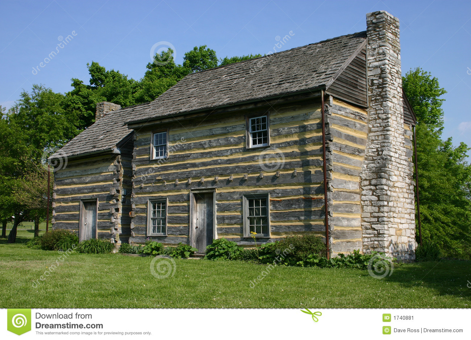 Log Cabin Stock Image Image 1740881