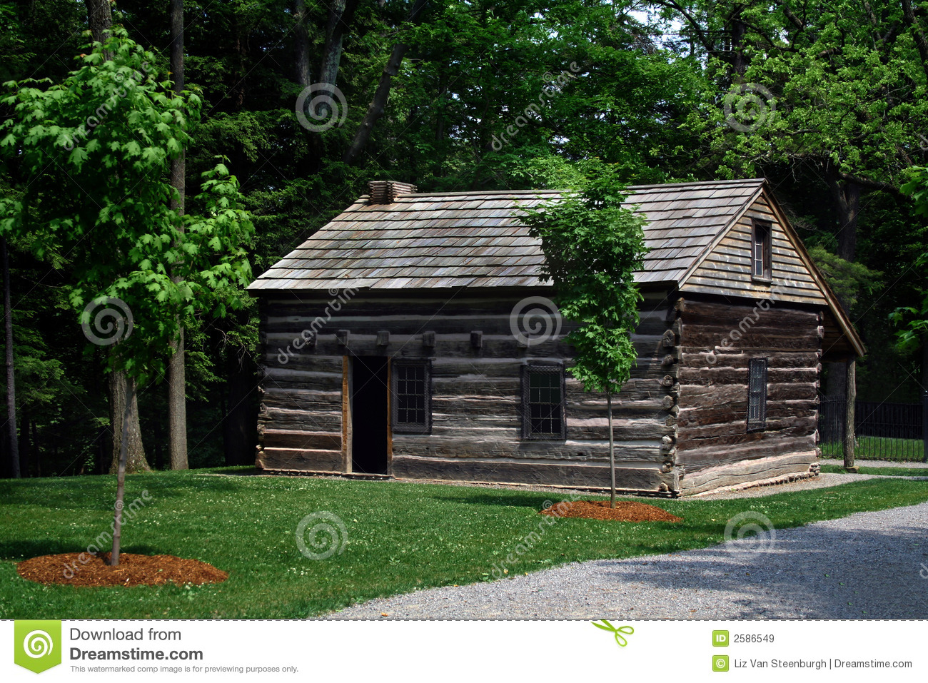 Log Cabin Royalty Free Stock Images Image 2586549