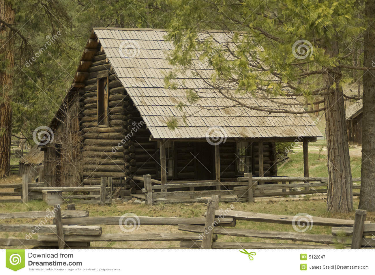 Log Cabin Royalty Free Stock Photography Image 5122847