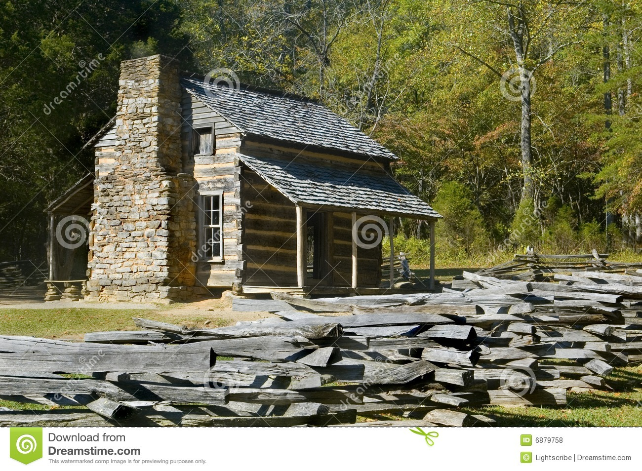 Log Cabin, cades cove, Great Smoky Mountains Park