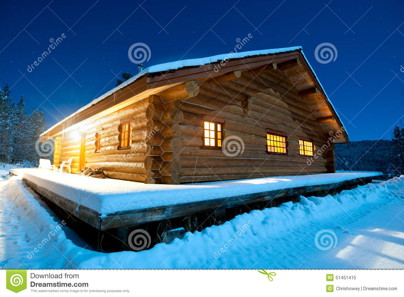 Log Cabin Canada Stock Photo Image 51451415