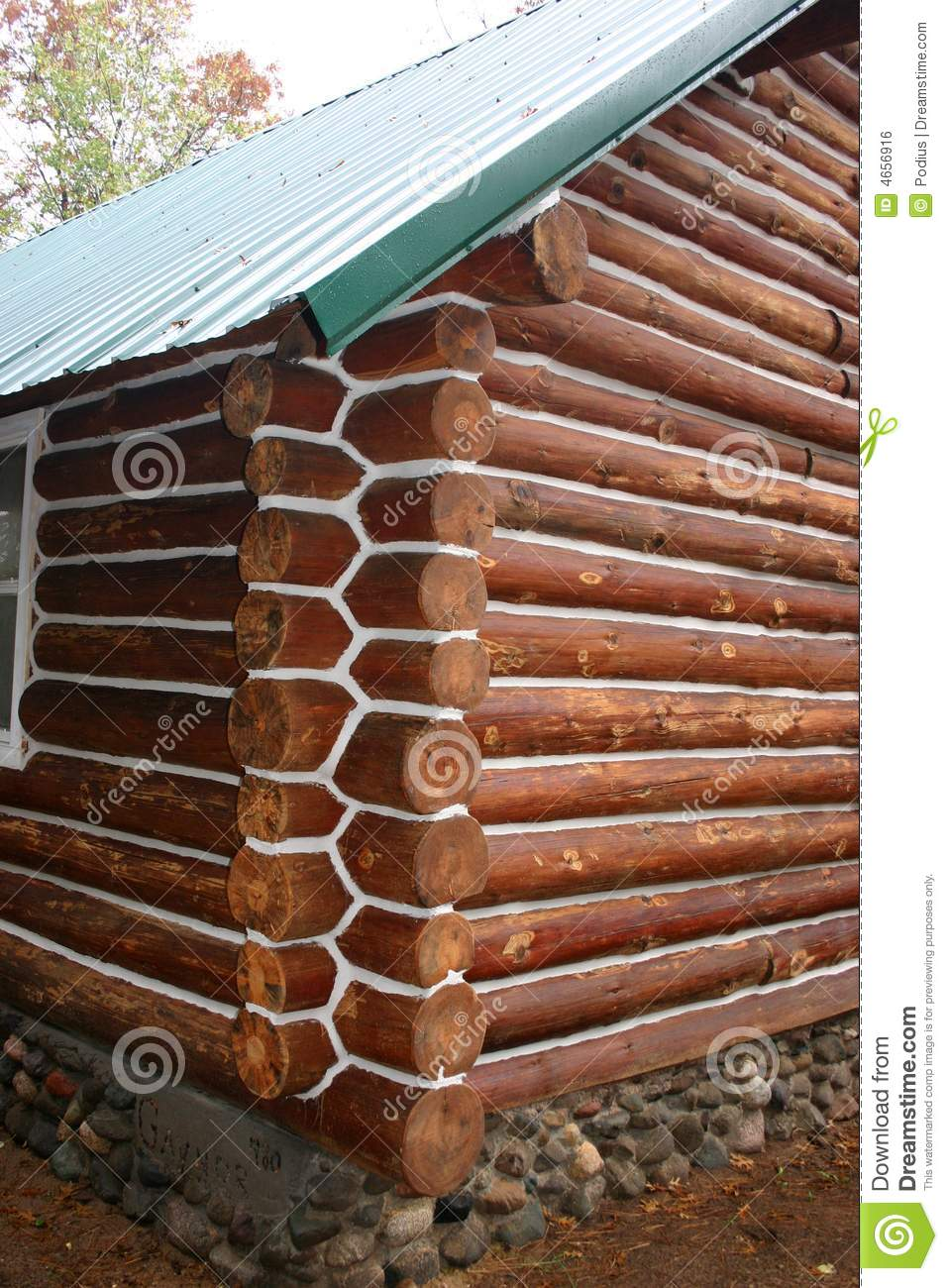 Log cabin chinking stock photo image of rustic sealed for Chinking log cabin