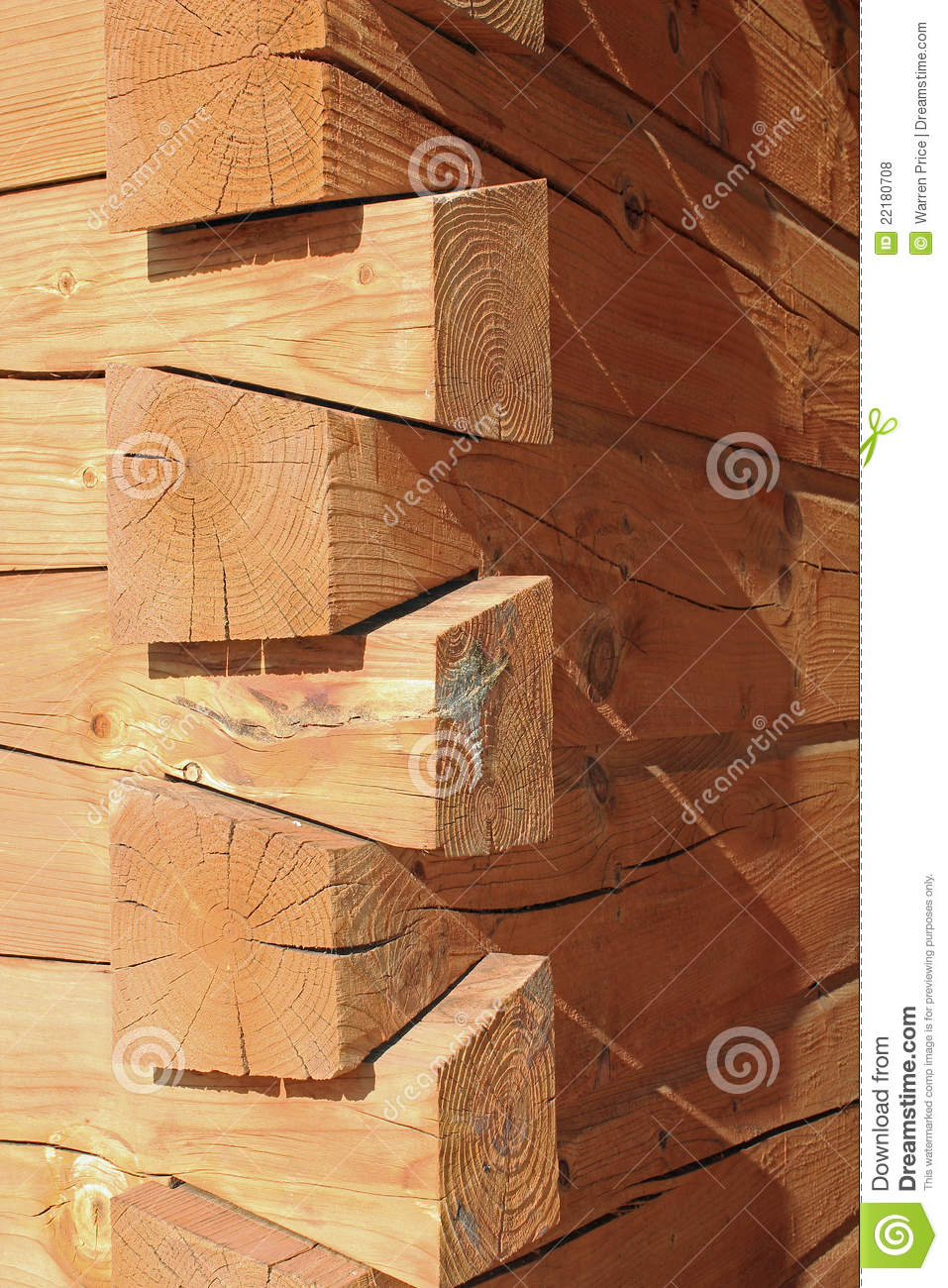 Log Cabin Construction Joints Stock Photo Image Of House