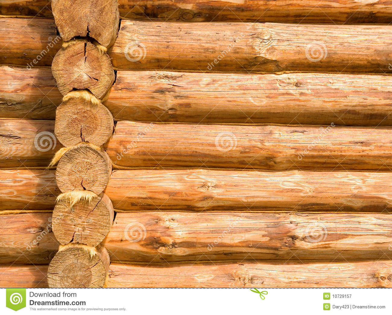 Log Cabin Details Royalty Free Stock Photography Image