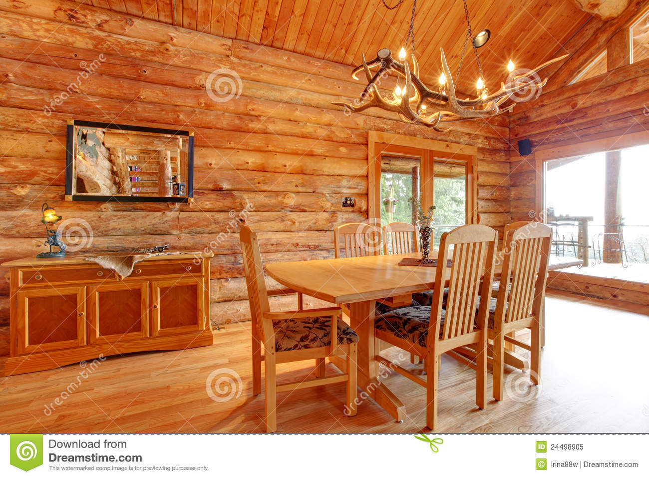 Log Cabin Dining Room Interior