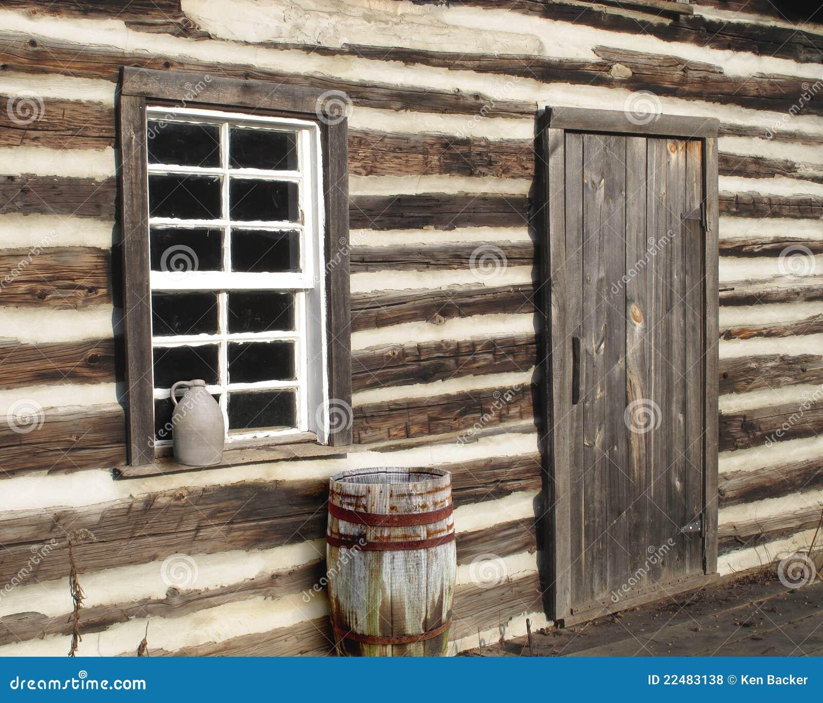 Log cabin door window close up stock photo image 22483138 for Log cabin window